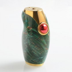 Authentic Asmodus Ohmsmium II Ohmsmium 2 Box Mod - Green, Stabilized Wood + Stainless Steel, 1 x 18650