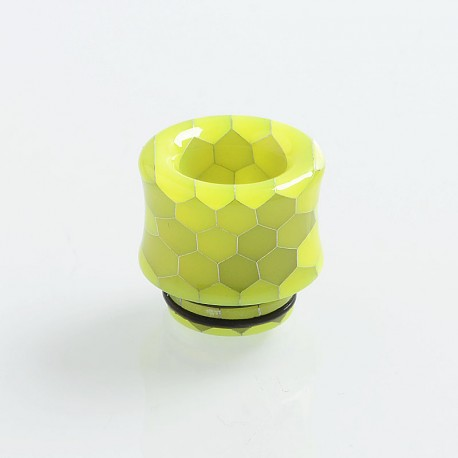 810 Replacement Drip Tip for TFV8 / TFV12 Tank / Goon / Kennedy / Reload RDA - Yellow, Resin, 18mm, Glow-in-the-Dark