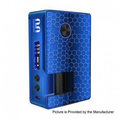 Authentic Blitz Vigor 81W TC VW Variable Wattage Squonk Box Mod - Blue, 5~81W, 1 x 18650 / 20700, 10ml