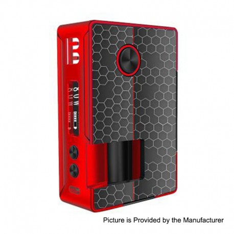 Authentic Blitz Vigor 81W TC VW Variable Wattage Squonk Box Mod - Red, 5~81W, 1 x 18650 / 20700, 10ml