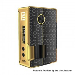 Authentic Blitz Vigor 81W TC VW Variable Wattage Squonk Box Mod - Gold, 5~81W, 1 x 18650 / 20700, 10ml