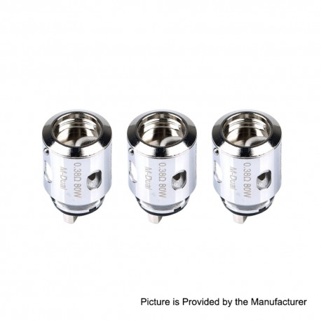 Authentic Horizon Replacement M-Dual Coil Head for Falcon King Sub Tank Clearomizer - 0.38 Ohm (80W) (3 PCS)