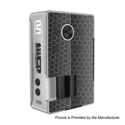 Authentic Blitz Vigor 81W TC VW Variable Wattage Squonk Box Mod - Silver, 5~81W, 1 x 18650 / 20700, 10ml
