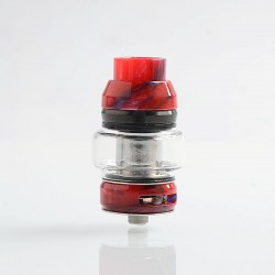 Authentic CoilART LUX Sub Ohm Tank Clearomizer - Red, Resin + Stainless Steel, 5.5ml, 0.15 Ohm, 25mm Diameter