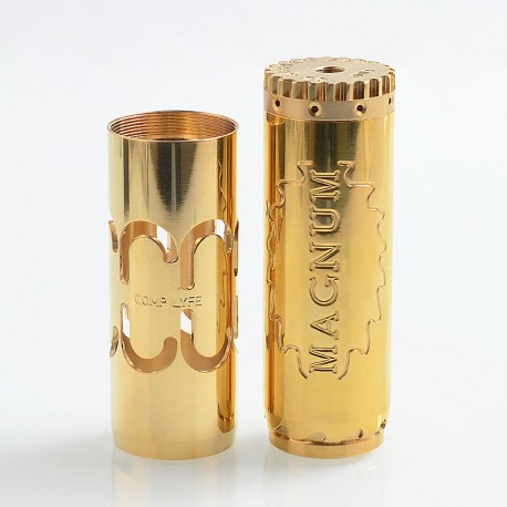 Comp Lyfe Magnum Saw Style Mechanical Tube Mod with Extra Tube - Brass, Brass, 1 x 18650 / 20700