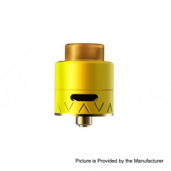 Authentic Smoant Battlestar Squonker RDA Rebuildable Dripping Atomizer w/ BF Pin - Yellow, Brass + SS, 24mm Diameter