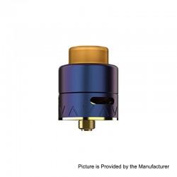 Authentic Smoant Battlestar Squonker RDA Rebuildable Dripping Atomizer w/ BF Pin - Gradient Blue, Brass + SS, 24mm Diameter