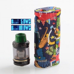 Authentic Vapor Storm Puma Baby 80W TC VW Box Mod + Hawk Tank Kit - Freedom, 5~80W, 1 x 18650, 6ml, 0.2 Ohm