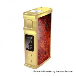 Authentic Blitz M1911 200W TC VW Variable Wattage Box Mod - Gold, 5~200W, 2 x 18650