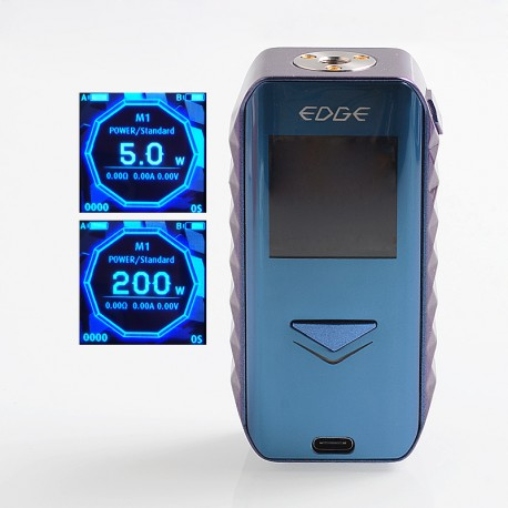 Authentic Digiflavor Edge 200W Wireless Charging TC VW Variable Wattage Box Mod - Blue, 5~200W, 2 x 18650