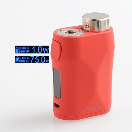 Authentic Eleaf iStick Pico X 75W TC VW Variable Wattage Box Mod - Red, 1~75W, 1 x 18650