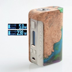 Authentic Arctic Dolphin Orion 250W TC VW Variable Wattage Box Mod - Random Color, Resin + Stabilized Wood, 5~250W, 2 x 18650