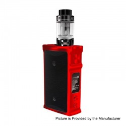 Authentic Blitz M1911 200W TC VW Variable Wattage Box Mod + Versus Tank Kit - Red, 5~200W, 2 x 18650, 5.5ml, 0.15 Ohm