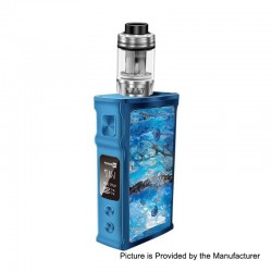 Authentic Blitz M1911 200W TC VW Variable Wattage Box Mod + Versus Tank Kit - Blue, 5~200W, 2 x 18650, 5.5ml, 0.15 Ohm