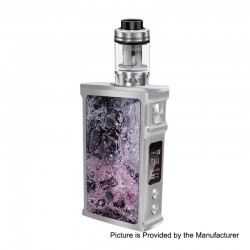 Authentic Blitz M1911 200W TC VW Variable Wattage Box Mod + Versus Tank Kit - Silver, 5~200W, 2 x 18650, 5.5ml, 0.15 Ohm