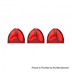 Authentic Tesla Teslacigs Replacement Pod Cartridge for WYE Pod System Kit - Red, 2ml, 1.2 Ohm (3 PCS)