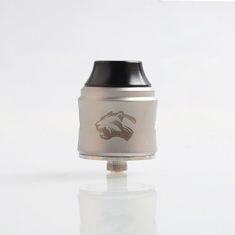 Authentic OBS Cheetah 3 III RDA Rebuildable Dripping Atomizer w/ BF Pin - Grey, Stainless Steel, 25mm Diameter