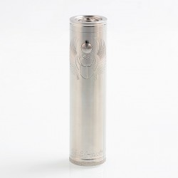 ShenRay TF Scarab Pro Max Style Mechanical Tube Mod Updated Version - Silver, Stainless Steel, 1 x 21700