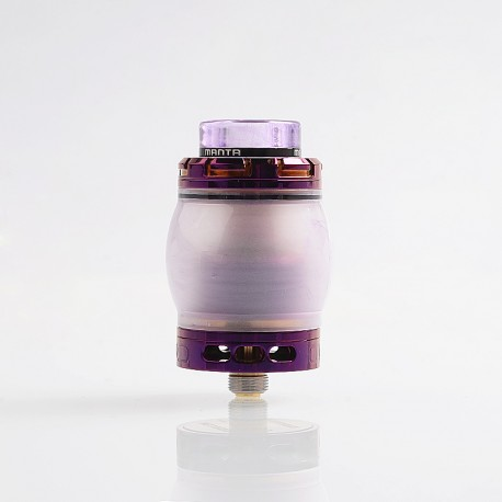 Authentic Advken Manta RTA Rebuildable Tank Atomizer Resin Edition - Purple, Resin + Stainless Steel, 4.5ml, 24mm Diameter