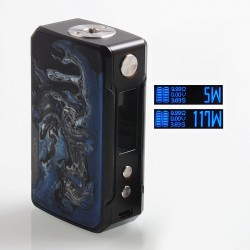 Authentic Voopoo Drag Mini 117W 4400mAh TC VW Variable Wattage Box Mod - B-Phthalo, Zinc Alloy + Resin, 5~117W