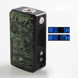 Authentic Voopoo Drag Mini 117W 4400mAh TC VW Variable Wattage Box Mod - B-Atrovirens, Zinc Alloy + Resin, 5~117W