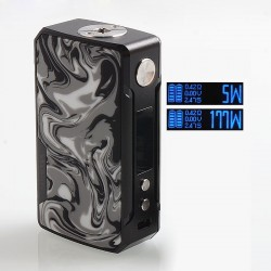 Authentic Voopoo Drag 2 177W TC VW Variable Wattage Box Mod - B-Ink, Zinc Alloy + Resin, 5~177W, 2 x 18650