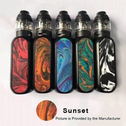 Authentic OBS Cube 80W 3000mAh VW Variable Wattage Starter Kit - Sunset, Zinc Alloy + Resin + SS, 5~80W, 4ml, 0.2 Ohm