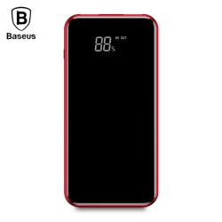 Baseus Q2 Wireless Charger Power Bank 8000mAh Dual USB Digital Display - Red