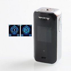 Authentic Vaporesso Luxe Nano 80W 2500mAh TC VW Variable Wattage Box Mod - Silver, 5~80W