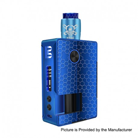 Authentic Blitz Vigor 81W TC VW Squonk Box Mod + Ghoul BF RDA Kit - Blue, 5~81W, 1 x 18650 / 20700, 10ml, 22mm Diameter