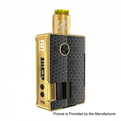 Authentic Blitz Vigor 81W TC VW Squonk Box Mod + Ghoul BF RDA Kit - Gold, 5~81W, 1 x 18650 / 20700, 10ml, 22mm Diameter