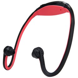 New Style TF Card On-head Sports MP3 Player - Red