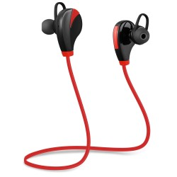 G6 Wireless Bluetooth 4.0 Earphone Headphone for Sports - Red With Black
