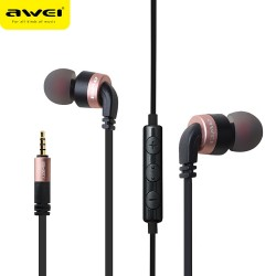 AWEI ES - 30TY Wired Stereo In-ear HiFi Music Earphones Headphones - Rose Gold