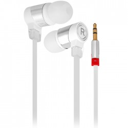 SMZ658 Professional 1.1M In-ear Headset Perfect HiFi Sound Earphone Flat Wire Good Sound Insulation - White