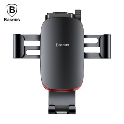 Baseus Metal Age Gravity Car Mount with Connecting Rod for 4 - 6 inch Mobile Phones - Dark Gray