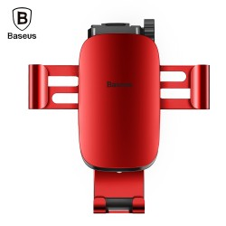 Baseus Metal Age Gravity Car Mount with Connecting Rod for 4 - 6 inch Mobile Phones - Red