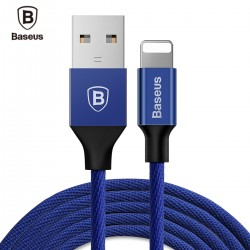 Baseus Yiven Cable 8 Pin USB Data Charging Braided Wire 1.2M for iPhone XS / XR / XS MAX - Cadetblue