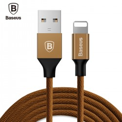Baseus Yiven Cable 8 Pin USB Data Charging Braided Wire 1.2M for iPhone XS / XR / XS MAX - Coffee