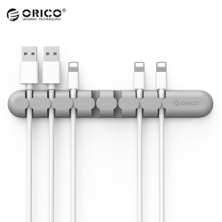 ORICO CBS7 Desktop Cable Storage Management Silicon Charger Wire Organizer Holder Clip - Gray
