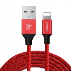 Baseus Yiven Cable 8 Pin USB Data Charging Braided Wire 1.2M for iPhone XS / XR / XS MAX - Red