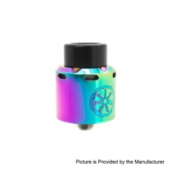 Authentic Asmodus .Blank RDA Rebuildable Dripping Atomizer w/ BF Pin - Rainbow, Stainless Steel, 24mm Diameter