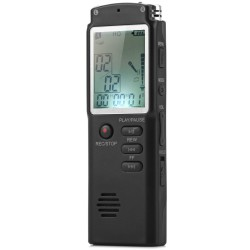 T60 Professional 8GB Time Display Recording Digital Voice / Audio Recorder MP3 Player - Black