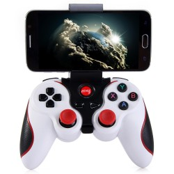 T3 Wireless Bluetooth 3.0 Gamepad Gaming Controller for Android System - White
