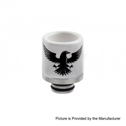 510 Replacement Drip Tip for RDA / RTA / Sub Ohm Tank Atomizer - A, Ceramic + Stainless Steel, 20.7mm