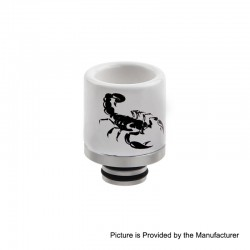 510 Replacement Drip Tip for RDA / RTA / Sub Ohm Tank Atomizer - B, Ceramic + Stainless Steel, 20.7mm