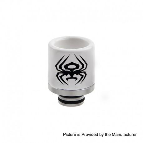 510 Replacement Drip Tip for RDA / RTA / Sub Ohm Tank Atomizer - C, Ceramic + Stainless Steel, 20.7mm