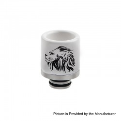 510 Replacement Drip Tip for RDA / RTA / Sub Ohm Tank Atomizer - E, Ceramic + Stainless Steel, 20.7mm