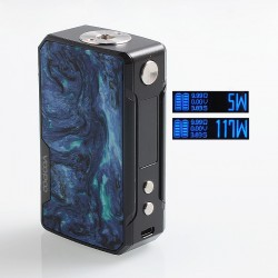 Authentic Voopoo Drag Mini 117W 4400mAh TC VW Variable Wattage Box Mod - B-Prussian Blue, Zinc Alloy + Resin, 5~117W