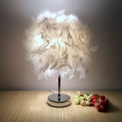 Modern Creative Feather Table Lamp - White